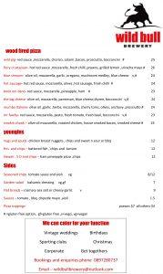 wild bull menu